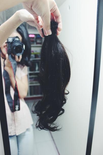 Goodbye, long hair!